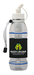 Body Glove Filter Bottle with Replaceable Filter